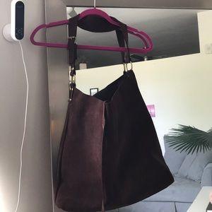Brownish Burgundy Zara Leather tote